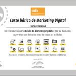 Certifikát - Kurz základů digitálního marketingu