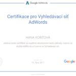 Certifikace pro Vyhledávací síť AdWords