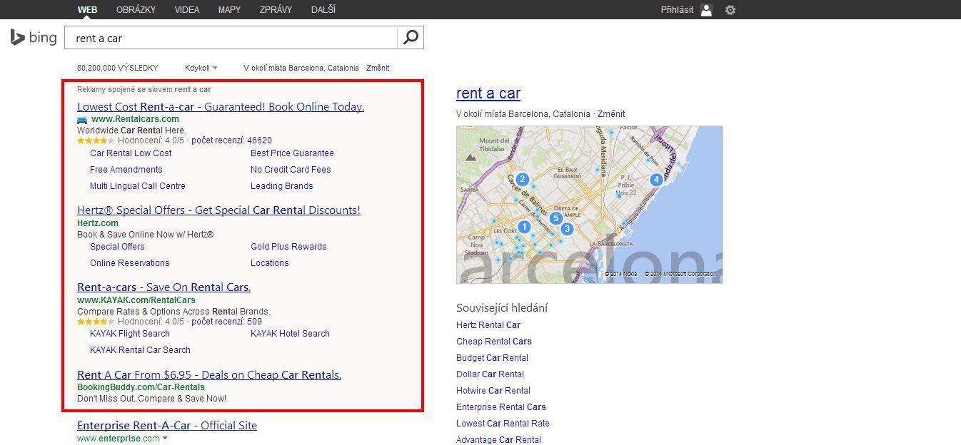 Reklamy na Bing