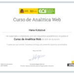 Certifikát - Kurz webové analytiky