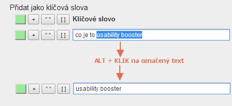 Usability Booster ALT + klik funkce