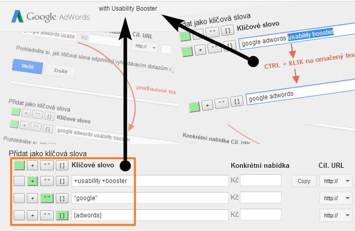 Usability Booster = rychlejší práce v Google Adwords
