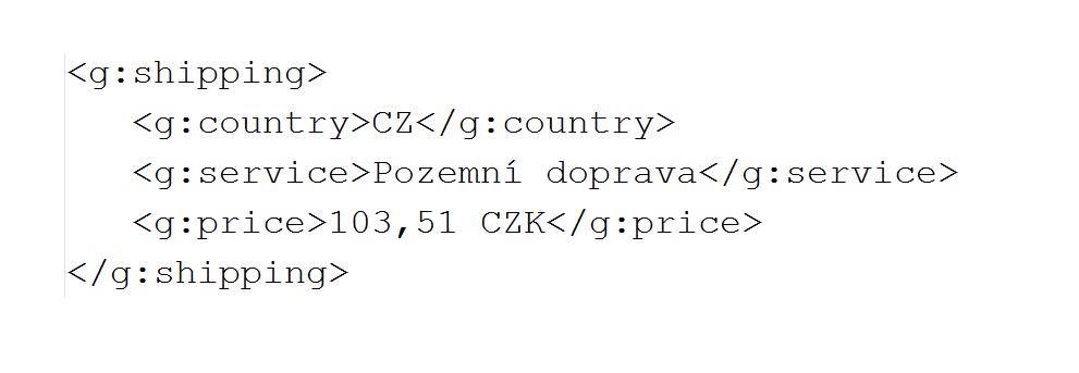 Doprava Google Merchant v XML