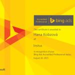 Bing Ads Certifikát