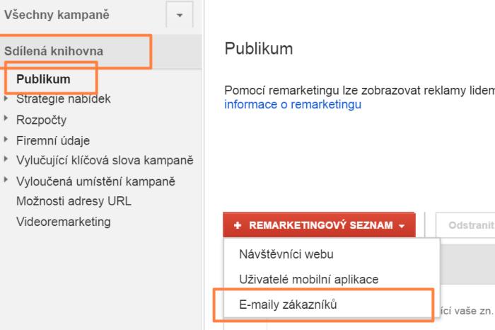 Návod: Cílení na emaily nově v Google Adwords